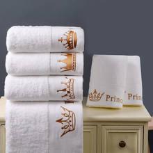 Toalha hotel 5 estrelas 100% algodão, conjunto de toalha para casa, toalha bordada, de luxo, coroa, para adultos, absorvente toalha de toalha,