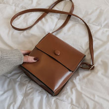 Luxury Brand Casual Small Leather Crossbody Bags For Women Brown  Retro Vintage Shoulder Bag Cross Body