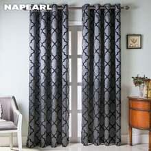 Современные оконные шторы napearl украшение для дома модные