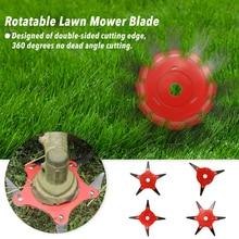 цена на 3/4/5/6 Teeth Brush Cutter Blade Trimmer Metal Blades Trimmer Head Garden Grass Trimmer Head For Lawn Mower