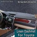 Автомобильный Стайлинг льняной noslip dashmat крышка приборной панели для toyota Highlander Kluger Tundra sequoia land cruiser L100 prado C-HR