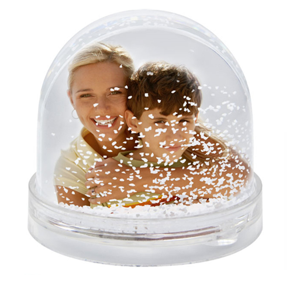 Custom DIY Gift Photo Snow Globe,Picture Snow Globe, Plastic Photo Insert Snow Globe Without The Water And Paper