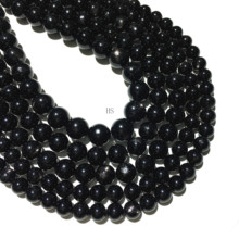 цена Natural Hypersthene Smooth Round Loose Beads Gemstone Healing Energy Jewelry Making DIY Bracelet Necklace 10mm 12mm 14mm Size онлайн в 2017 году