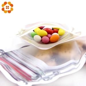 Image 3 - 5pcs/lot Convenient PE Mason Bottles Bags Nuts Cookies Candy Snacks Sealed Plastic Bag Home Decoration Storage Supplies
