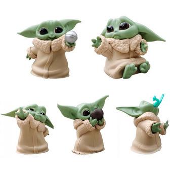 Nowy film disneya gwiezdne wojny dziecko Yoda zabawki figurki akcji 5-6cm gwiezdne wojny Yoda dziecięce zabawkowe figurki z Anime Yoda dzieci świąteczne prezenty tanie i dobre opinie Model Dla osób dorosłych 12 + y CN (pochodzenie) Unisex star wars yoda baby figure toy about 5-6CM lalki PIERWSZA EDYCJA