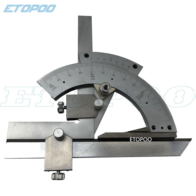 Etopoo Genuine Product 0-320 Degree Versatile Angle Ruler Protractor Angle Ruler 0-320 Du Wan Square