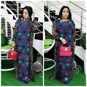 Image 2 - 2020 Length 150cm 2 Piece Set African Dresses For Women Africa Clothing Muslim Long Dress Length Fashion African Dress For Lady
