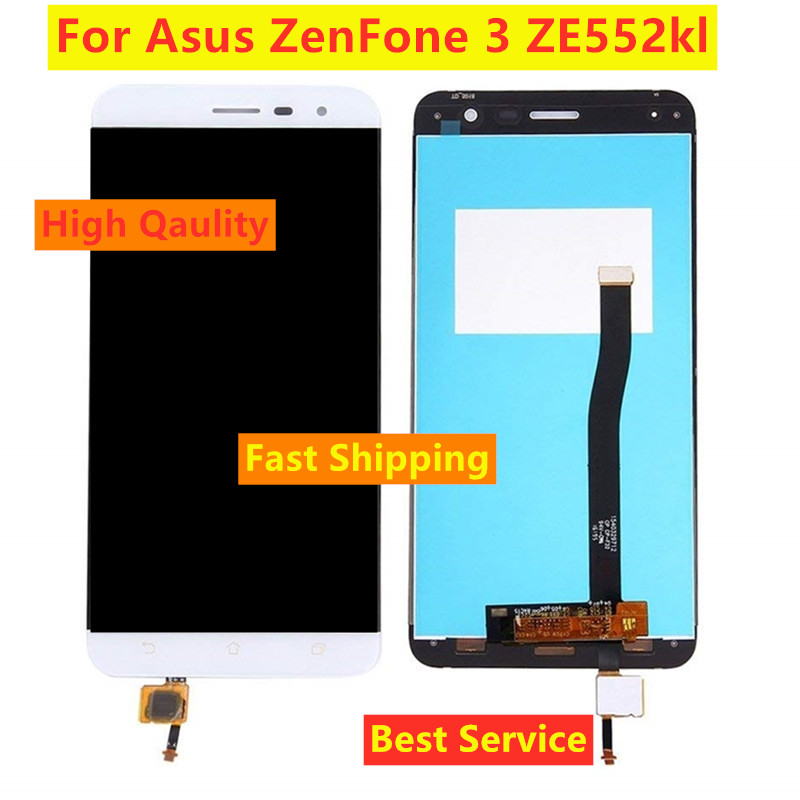 New <font><b>LCD</b></font> For <font><b>Asus</b></font> <font><b>Zenfone</b></font> <font><b>3</b></font> <font><b>ZE552KL</b></font> D012DE <font><b>LCD</b></font> <font><b>Display</b></font> Touch Screen Digitizer Replacement <font><b>ZE552KL</b></font> Z012D <font><b>LCD</b></font> <font><b>Display</b></font> Assembly image