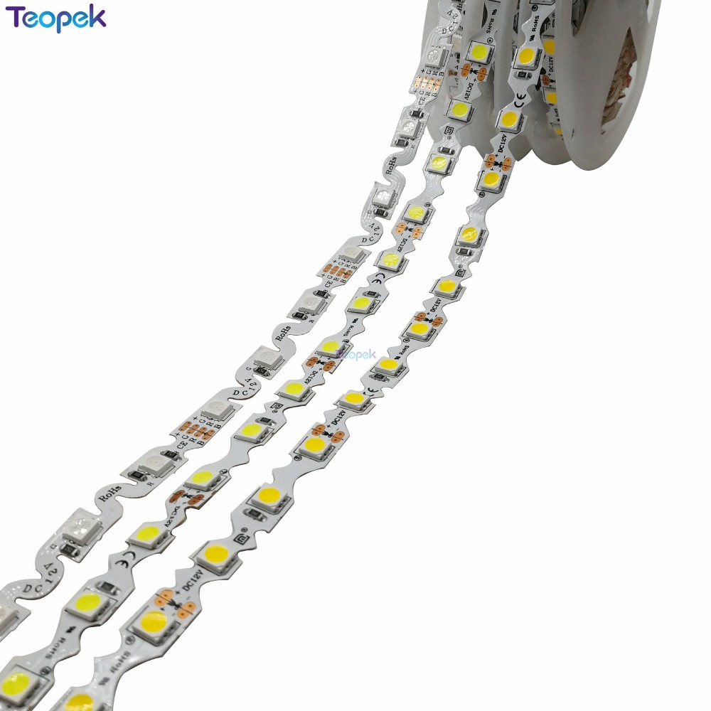 S Shape 5050 LED Strip 60Led/m Free Bending LED Tape, Cool White/warm White/RGB, DC12V Non-waterproof 5m/lot For Channel Letter
