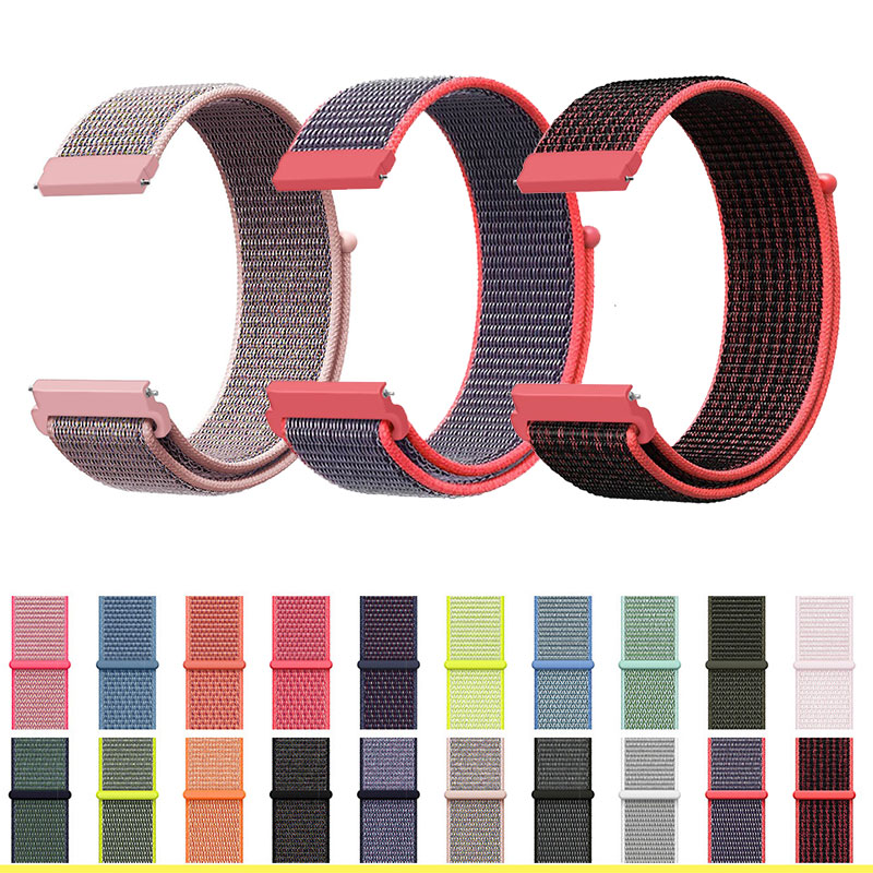 Amazfit Bip Pace Watchband Brecelet Nylon <font><b>Strap</b></font> <font><b>20mm</b></font> For Amazfit <font><b>GTS</b></font> Bip Smart Wrist <font><b>Strap</b></font> Nylon Loop Weaving <font><b>Watch</b></font> For image