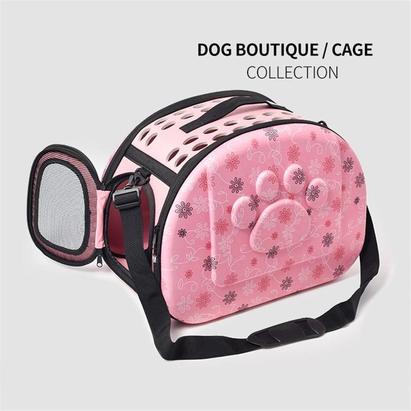 Transparent Cat Dog Carrier Bag Cats Handbag Breathable Travel Bag Puppy Carrying Mesh Shoulder Pet Bags