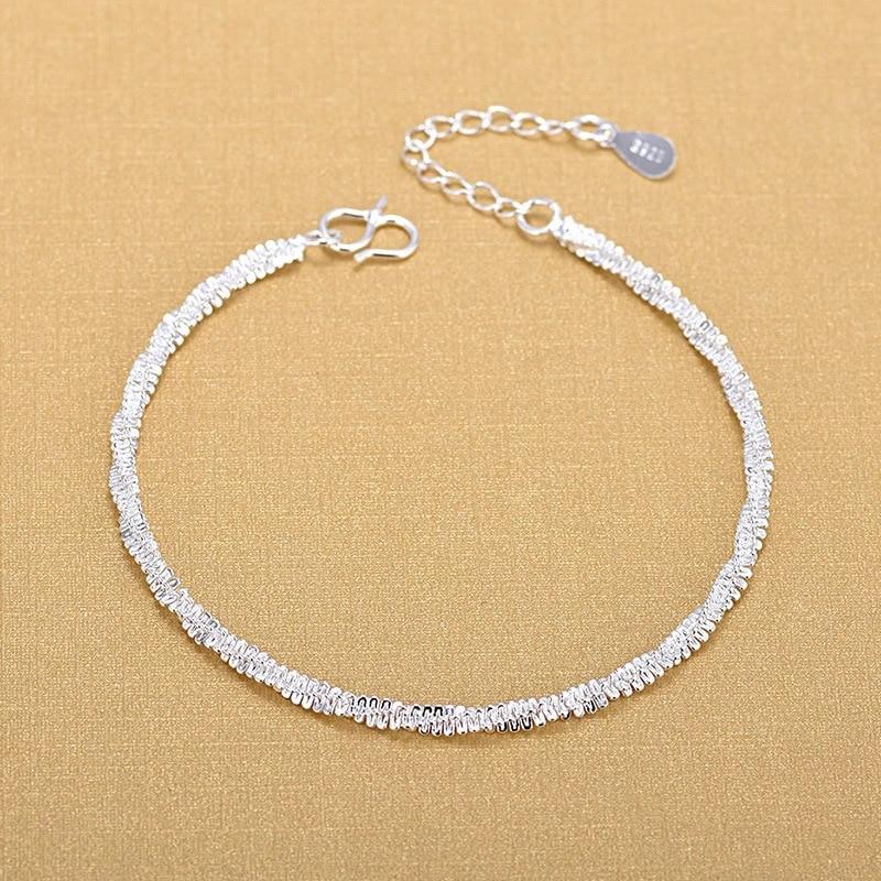 Regalo Fine del braccialetto di modo dei braccialetti di modo dell'argento sterlina 925 dei braccialetti d'argento di alta qualità di trasporto libero 1
