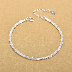 Free Shipping Top Quality Silver Bracelets 925 Sterling Silver Fashion Bracelets Fine Fashion Bracelet Gift