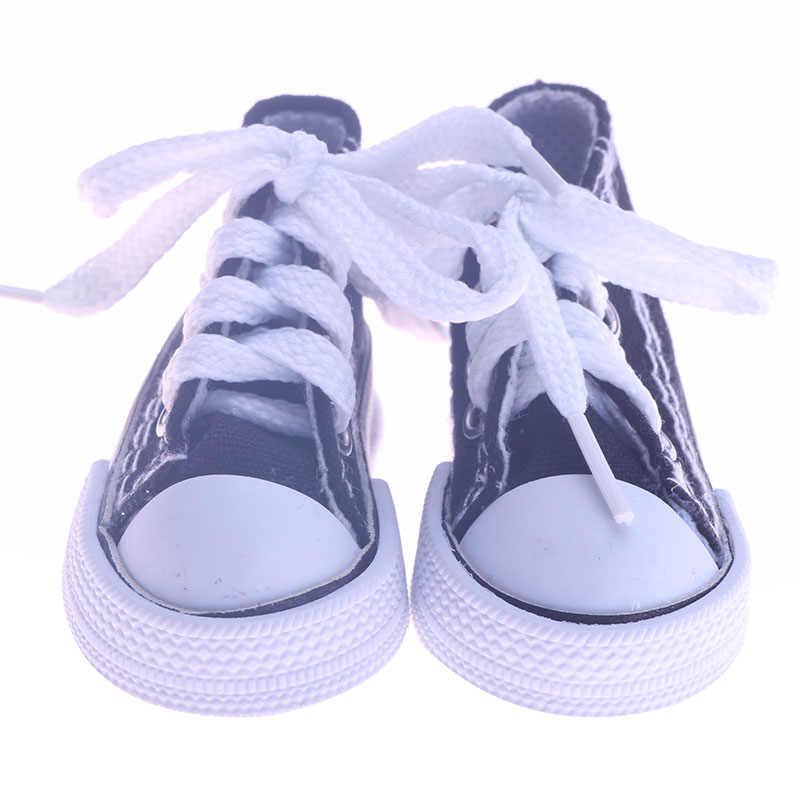 Bebek ayakkabıları 7.5 Cm 8 renkler moda kanvas ayakkabılar peluş oyuncak oyuncak bebek giysileri aksesuarları bizim nesil noel doğum günü kız hediye