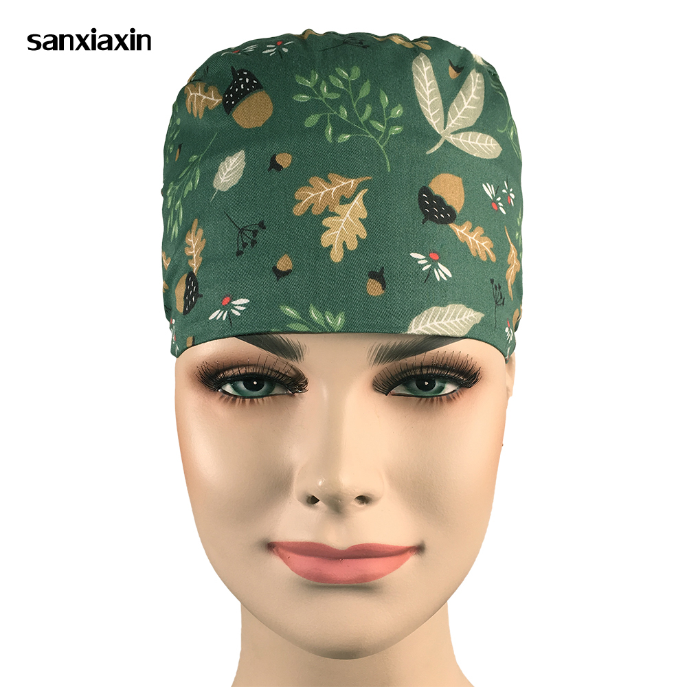Sanxiaxin Wholesale Cartoon Medical Hospital Laser Eye Operating Room Work Cap Elastic Bandage Unisex Surgical Nurse Doctor Hat