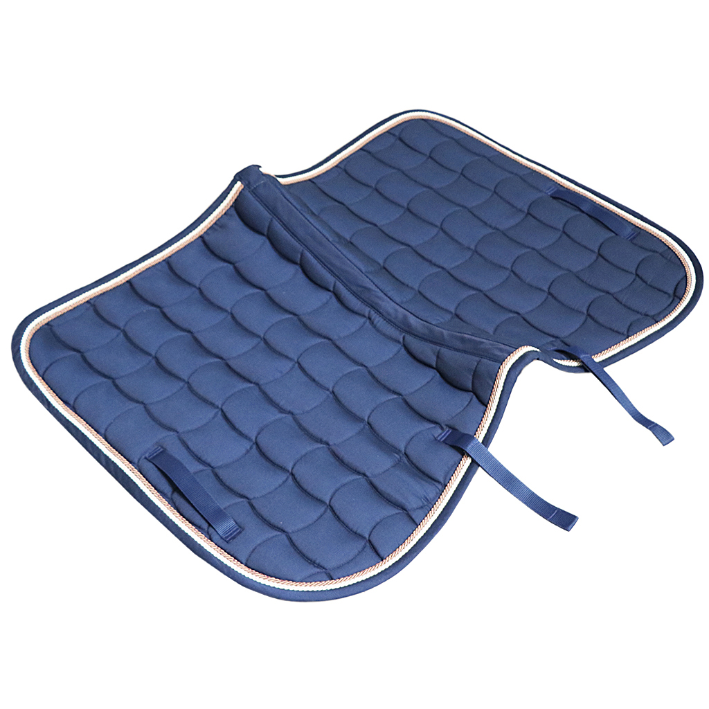 Cotton Contoured Half Saddle Pad Liner Western, Equine Comfort English Saddle Pads - Navy Blue