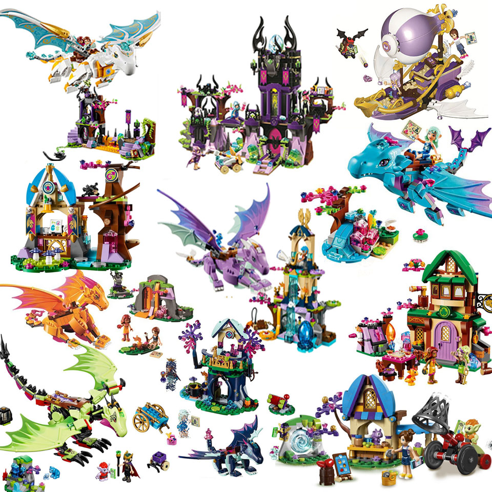 10549 Compatible With Lepining Elves Elves Dragon Sanctuary Building Bricks Blocks DIY Educational Toys  Friend Friends