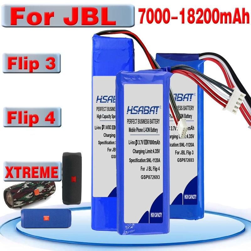 7000mAh ~ batería de 18200mAh para XTREME JBL Flip 4 Flip 4 Edición Especial GSP872693 01 Flip 3 Flip 3 gris GSP872693 P763098 03