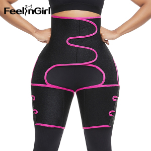 FeelinGirl Neoprene Slim Thigh Trimmer Leg Shapers Slimming Belt Waist Trainer Sweat Shapewear Fat Burning Compress Belt(China)