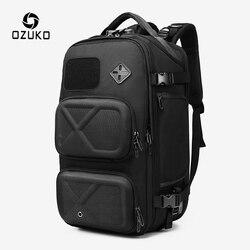 OZUKO Anti-vol sac à dos hommes USB charge grands sacs à dos 15.6 sac à dos pour ordinateur portable mâle étanche sac de voyage avec poche à chaussures nouveau