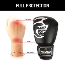 10OZ 12OZ 14OZ 16OZ Brand PRETORIAN Muay Thai Pair Boxing Punching Gloves TKD MMA Men Fighting Boxing Gloves PU Kick Gloves