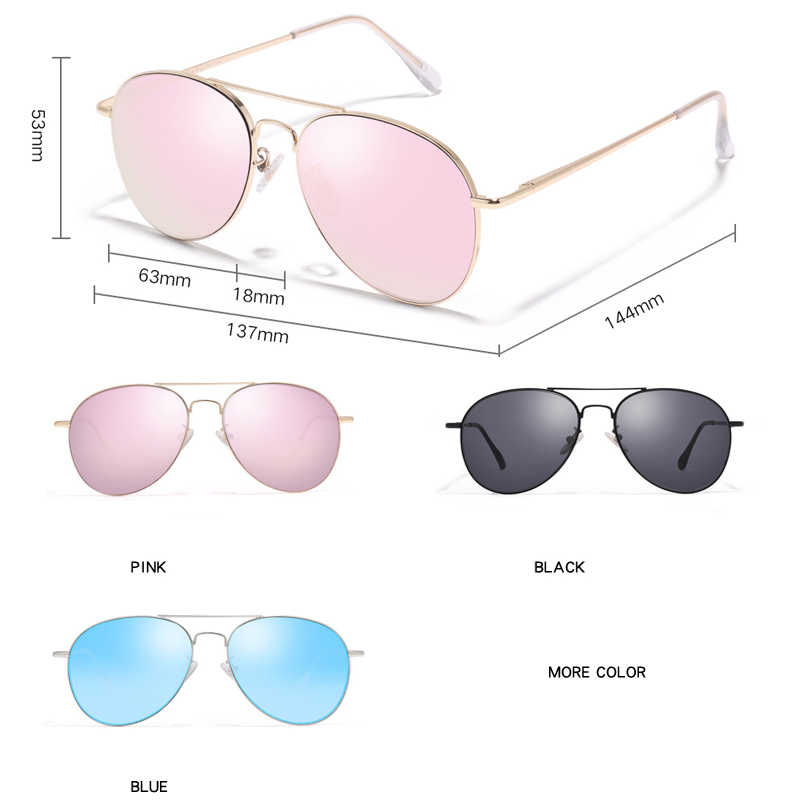 Image 2 - PARZIN Sunglasses Women Classic Pilot Sun Glasses For Men High Quality Alloy Frame Ladies Shades UV 400 53 mm  Driving Glasses-in Women's Sunglasses from Apparel Accessories