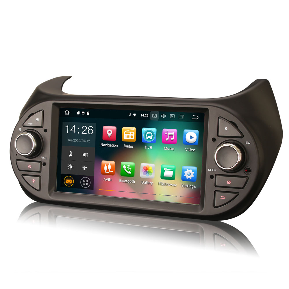 "7 ""Android 10.0 os GPS Multimídia Carro Sistema de Rádio Player para Peugeot Bipper 2008 2009 2010 2011 2012 2013 2014 2015 2016 2017"