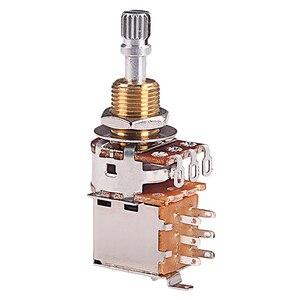 A500K потенциометр Push Pull переключатель Splined Dpdt вал горшка 25 мм электрогитара тон громкость Запчасти для гитары и аксессуары