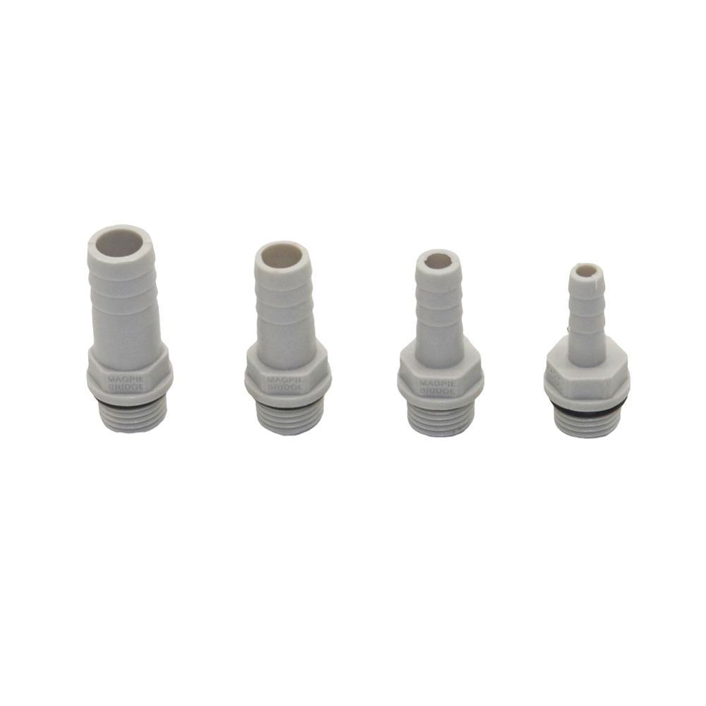 Пластиковый штуцер для шланга 6 мм, 8 мм, 10 мм, 12 мм, хвост с зазубринами 1/4 дюйма, коннектор с наружной резьбой BSP, соединительная муфта, адаптер...