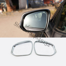 2019 2020 Accessories For Toyota RAV4 Car side door rearview mirror block rain eyebrow Cover Trim Sticker ABS Chrome styling