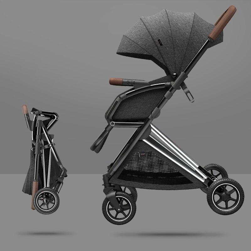 Poussette Portable pour bébé léger, berceau haut paysage, système de voyage, livraison gratuite