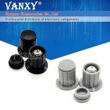 5 pçs preto cinza botão tampa é adequado para alta qualidade WXD3-13 2w WXD3-12 1w potenciômetro botão KYP16-16-4