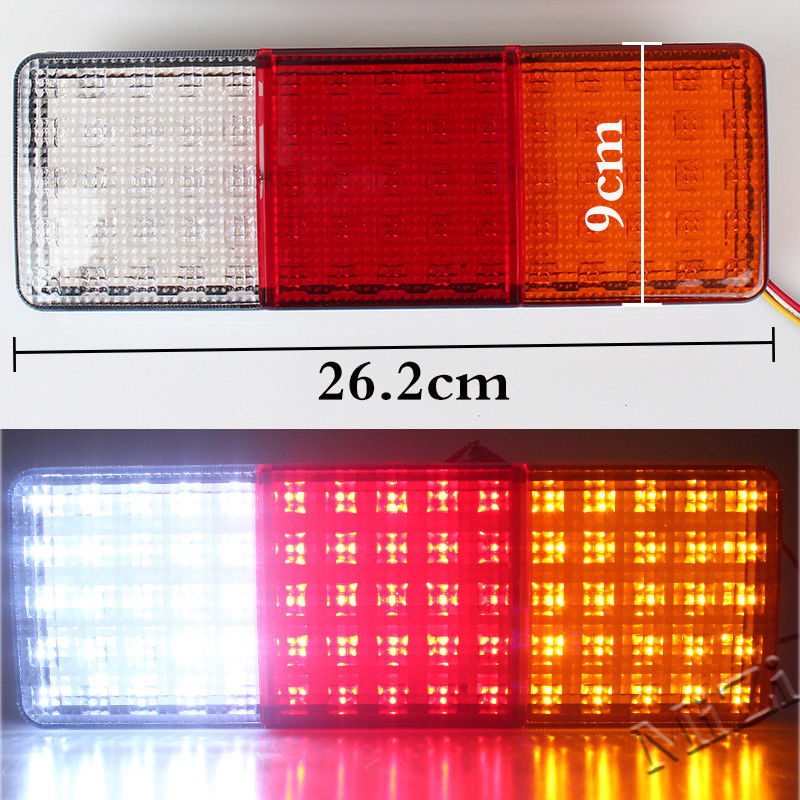 75-LED Tail Light Truck Trailer RV Boat Stop Rear Reverse Turn Indicator Lamp image