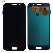 OLED A520 LCD Display For Samsung Galaxy A5 2017 A520 Display With Touch Screen Digitizer A520F Assembly Sensor Mobile Tools