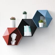 Настенная стойка для гостиной в скандинавском стиле с геометрическим