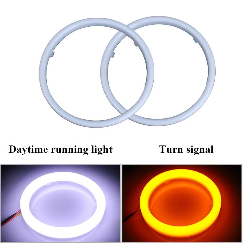 Car Angel Eyes 60mm 70mm 80mm 90mm 95mm 100mm 110mm 120mm 12V LED Halo Ring DRL Daytime Running Light Signal Lamps White Yellow