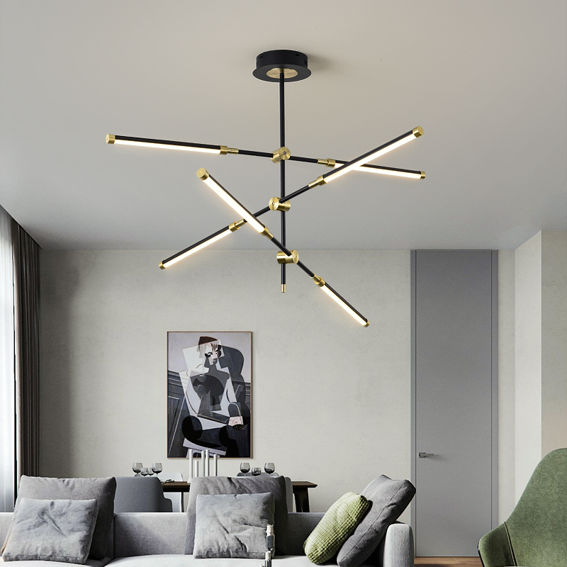 New Modern Chandelier Lighting Living Room Lamp Nordic Lamp Simple Atmosphere Light Luxury Bedroom Lamp Dining Room Chandelier