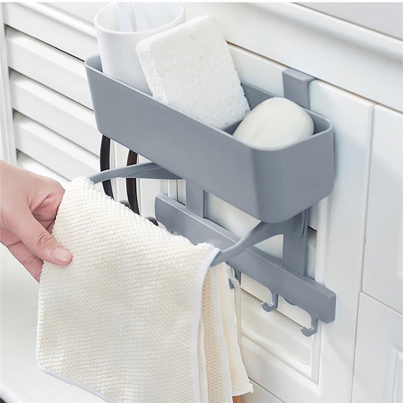 Kitchen Organizer Towel Rack Hanging Holder Bathroom Cabinet Cupboard Hanger Shelf For Kitchen Supplies Accessories