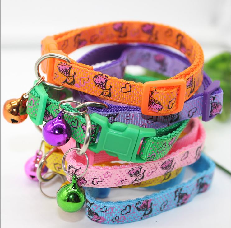 Pet Supplies Dog Reflective Neck Ring Dogs And Cats Supplies Small Dogs Only Nylon Bell Applique 1.0 Cat Neck Strap