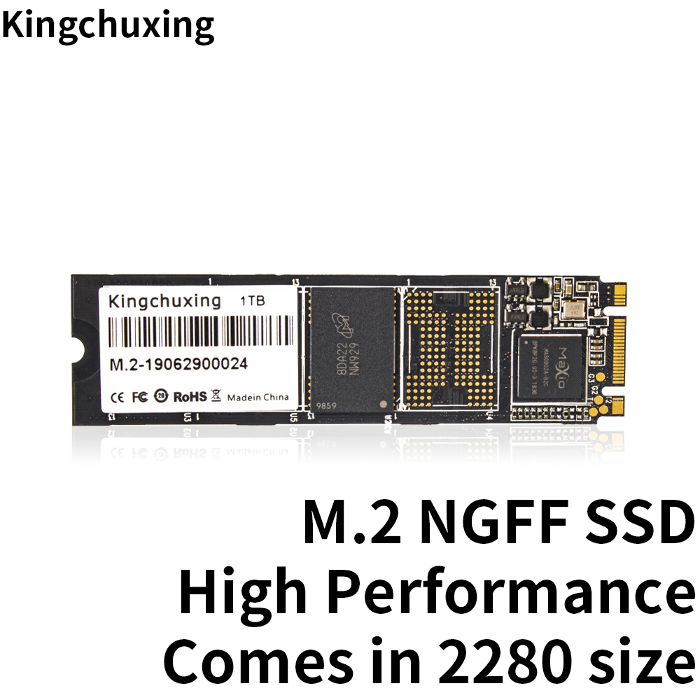 M.2 NGFF 2280 <font><b>SSD</b></font> <font><b>M2</b></font> <font><b>128GB</b></font> 256GB 512GB 1TB Internal Solid State Drive Hard Disk for Laptop Notebook Ultrabook Kingchuxing image