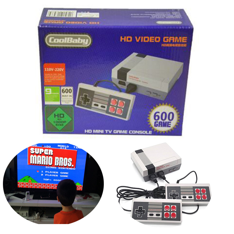 30PCS CoolBaby HD Mini TV Family Game Console HDMI 8 Bit Retro Video Game Console Built-In 600 Game Handheld Gaming Player