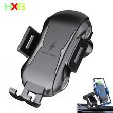 Xhb qi carregador de carro sem fio titular do telefone carro carregador sem fio para o iphone 11 pro max x xs xr 8 samsung s10 s9 s8 nota 9 xiaomi mi