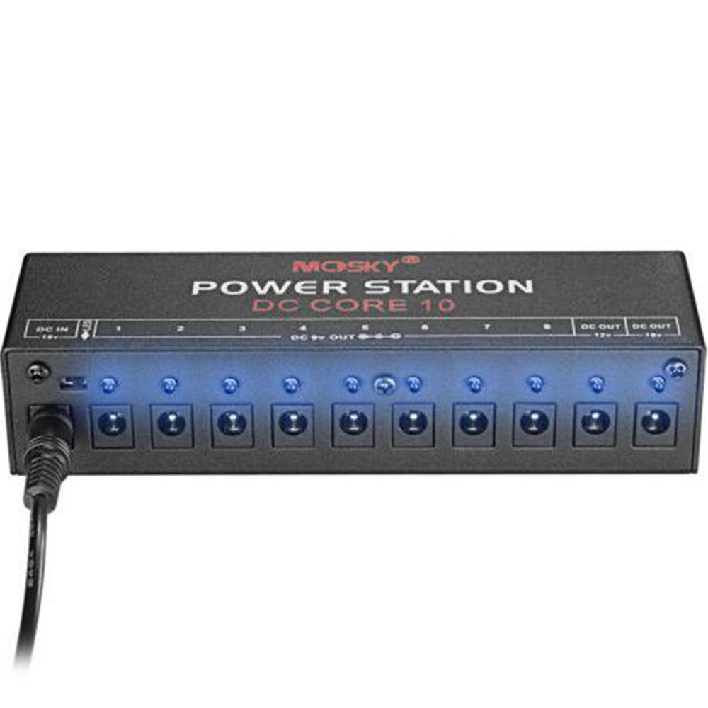 MOSKY DC-CORE10 Portable Mini Power Supply For 9V 12V 18V Guitar Effects Pedal Ten Isolated Outputs New Arrival
