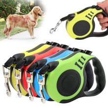 3M/5M pet retractable dog leash leash small and medium-sized dogs and cats leash leash out pet supplies dog chain cat dog collar pet leash pink page 3