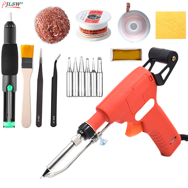 US/EU 110V/220V 60W Hand-held Internal Heating Soldering Iron Automatically Send Tin Gun Soldering Welding Repair Tool