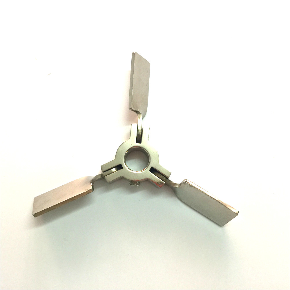 Stir Blade Stainless Steel Mixer Impeller Lab Stirrer Paddle Folding Three-blade Length 65 Mm Diam. 150 Mm Inner Hole Diam. 16mm