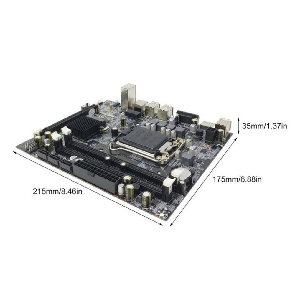 H55 Double USB ordinateur de bureau DDR3 mémoire LGA1156 carte mère système de réparation accessoires CPU Interface Stable Double canal