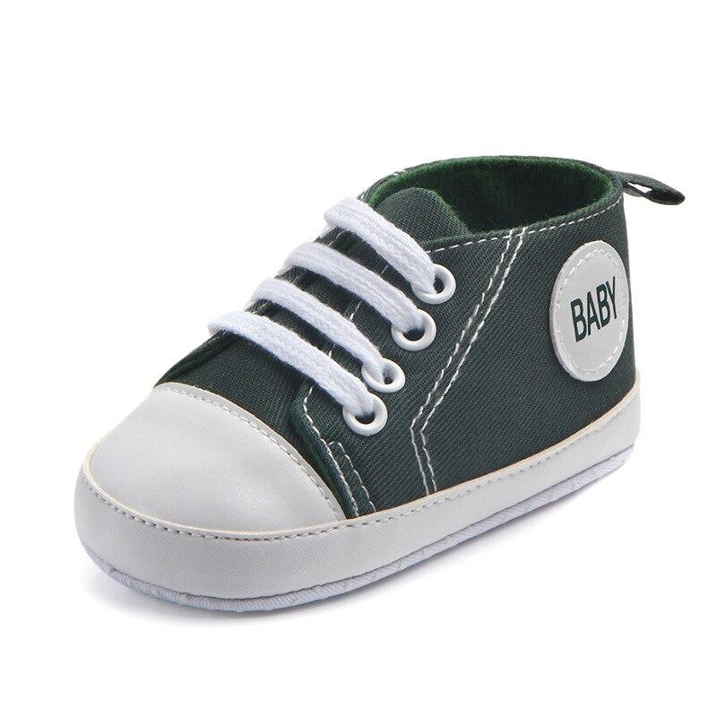 Chaussures bébé Garçon Fille Solide Sneaker Coton Doux Semelle Antidérapante Nouveau-Né Infantile Premiers Marcheurs Bambin décontracté Sport Chaussures de Berceau 35