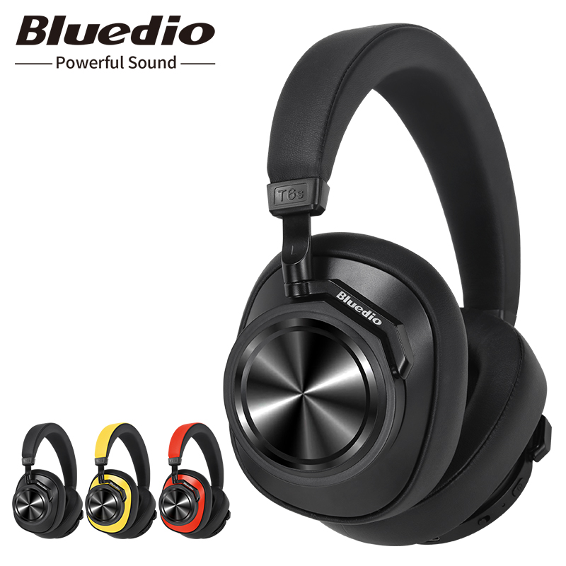 Bluedio T6S Bluetooth Headphones Active Noise Cancelling  Wireless Headset For Phones And Music With Voice Control