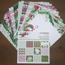24 folha de lixo jornal flamingo fundo papel almofada scrapbooking origami papéis para fazer cartão álbum scrapbook artesanato fornecimento